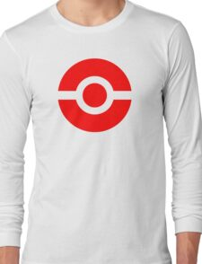 Pokeball Icon Red Long Sleeve T-Shirt