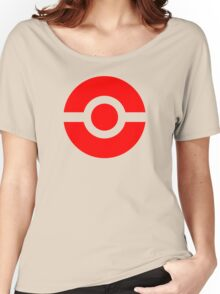 Pokeball Icon Red Women's Relaxed Fit T-Shirt