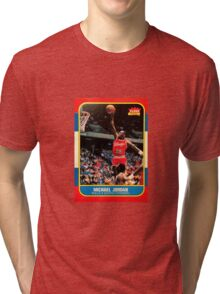 Michael Jordan Chicago Bulls NBA Basketball Rookie Card Tri-blend T-Shirt