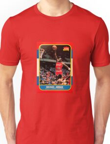 Michael Jordan Chicago Bulls NBA Basketball Rookie Card Unisex T-Shirt