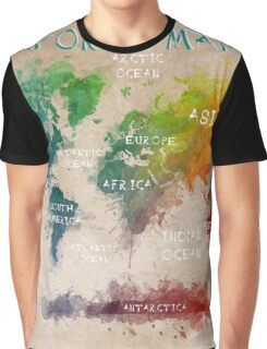 world map 14 Graphic T-Shirt
