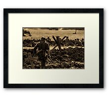 WW2 - Into the breach Framed Print