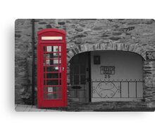 old fashioned telephone box Canvas Print