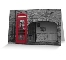 old fashioned telephone box Greeting Card