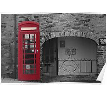 old fashioned telephone box Poster