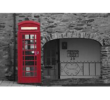 old fashioned telephone box Photographic Print