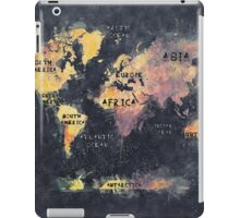 world map 12 iPad Case/Skin
