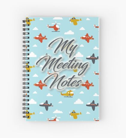 My Meeting Notes Boys Spiral Notebook
