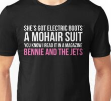 """""""Bennie and the Jets"""" by Elton John (White) Unisex T-Shirt"""