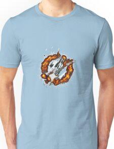 Brennende E-Gitarre Unisex T-Shirt