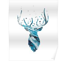 Stag Head Wall Mount Deer Wall Art Poster