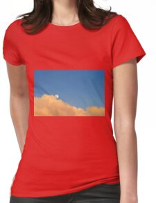 Moon At Sunset Womens Fitted T-Shirt