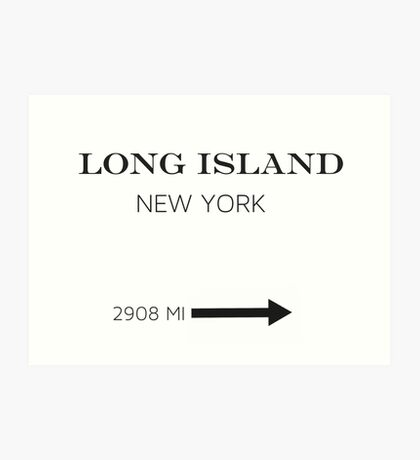 PRADA MARFA - LONG ISLAND Art Print