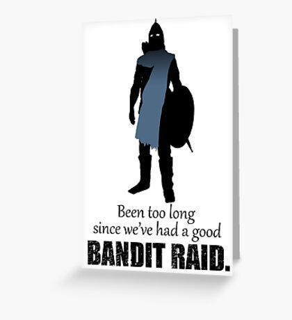 Skyrim Guard - Bandit Raid Greeting Card