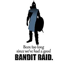 Skyrim Guard - Bandit Raid Photographic Print