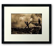 WW2 Shrapnel Framed Print