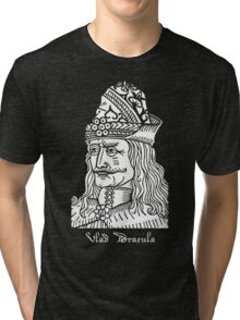 Vlad Dracula Tepes The Impaler Vampire Horror Movie Tri-blend T-Shirt