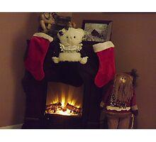HO ! HO !  HO! MERRY CHRISTMAS Photographic Print