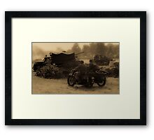 WW2 Wartime Scene Framed Print