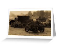 WW2 Wartime Scene Greeting Card