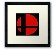 Super Smash Brothers logo Framed Print