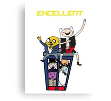 Finn and Jakes Excellent Adventure Time Canvas Print