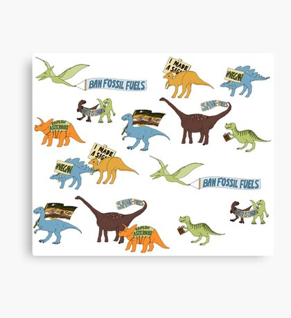 Dino Activists Canvas Print