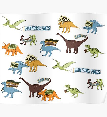 Dino Activists Poster