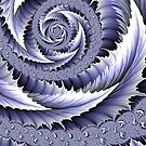 Spiral Leaf Abstract by John Edwards