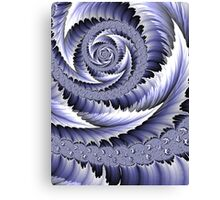 Spiral Leaf Abstract Canvas Print