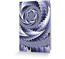 Spiral Leaf Abstract Greeting Card