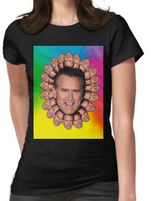 Bruce Campbell Chins can kill Womens Fitted T-Shirt