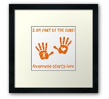 Handprints - Orange Framed Print