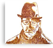 Old Man in Hat Canvas Print