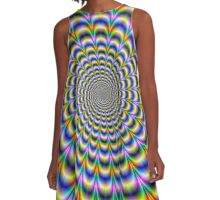 Psychedelic Swirl A-Line Dress