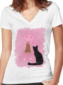 Cherries! Women's Fitted V-Neck T-Shirt