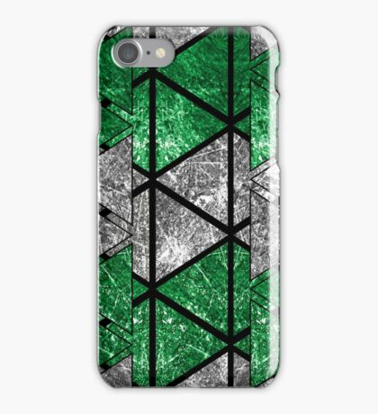 Green Triangle Stack iPhone Case/Skin