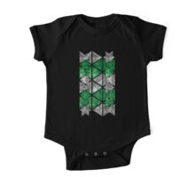 Green Triangle Stack One Piece - Short Sleeve