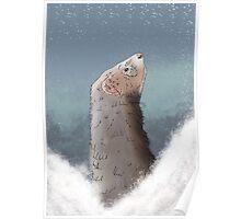 Winter Ferret Poster