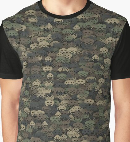 Space invaders camouflage  Graphic T-Shirt