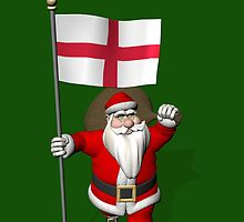 Santa Claus With Flag Of England by Mythos57