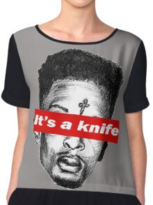 "21 Savage ""it's a knife"" Supreme Chiffon Top"