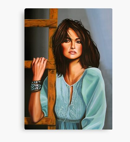Penelope Cruz Painting Canvas Print