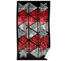 Red Triangle Stack Poster