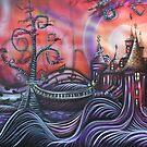 Castle Whimsyville Art Print by Sherry Arthur