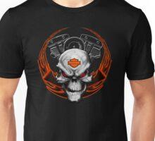 Orange Flames with Skull & Engine Unisex T-Shirt