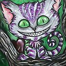 Sir Chester And His Dark Heart Cheshire Cat by Sherry Arthur