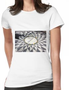 Imagine Memorial in Central Park Womens Fitted T-Shirt