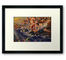 Mermaid Prince Dog Fish Crab Princess Prince Framed Print