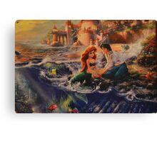 Mermaid Prince Dog Fish Crab Princess Prince Canvas Print